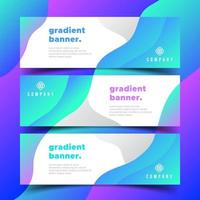 Banners with Gradient Shapes vector