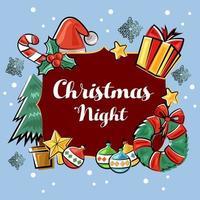 Christmas night doodle element