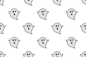 patrón sin costuras fantasma sobre fondo blanco