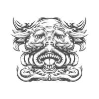 kreative Zeichnung für Tätowierung oder T-Shirt