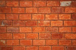 oude muur van rode bakstenen