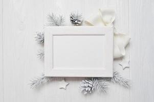 tarjeta de felicitación de navidad de maqueta