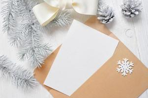 Mockup Christmas greeting card letter