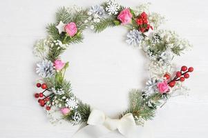 Mockup of Christmas wreath