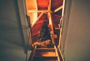 Christmas tree in the attic