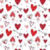 patrón de corazón transparente