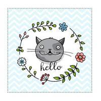 A Cute Cat Poster Template vector