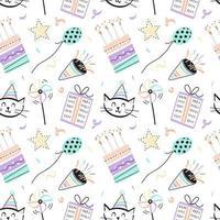 Fun Seamless Birthday Pattern