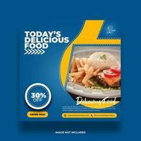 Creative Minimal Abstract Food Banner For Social Media Post vector