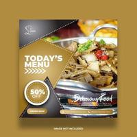 Tan Creative Modern Food Banner For Social Media Posts vector