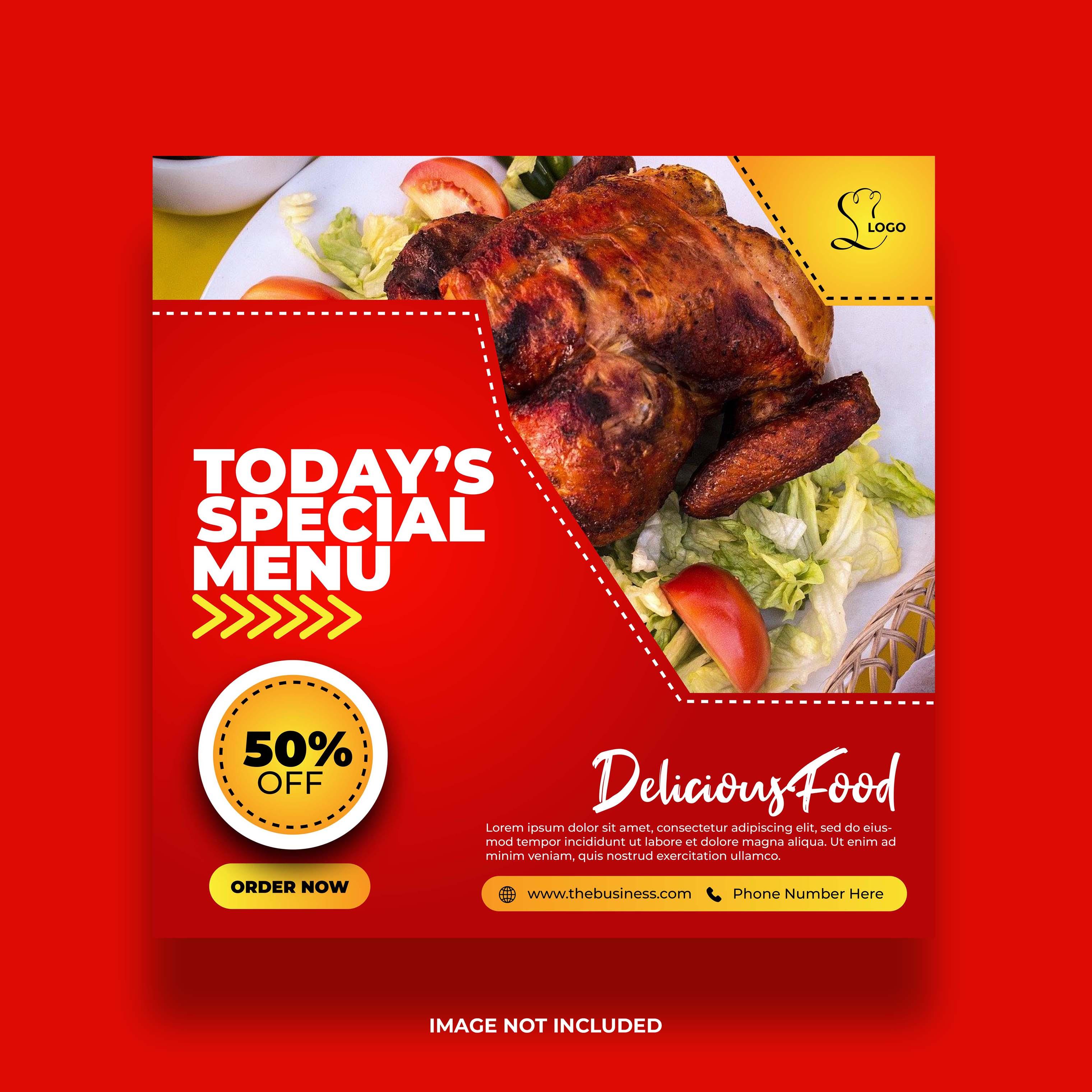 Special Menu Food Banner For Social Media