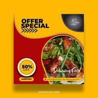 Colorful Minimal Creative Food Banner vector