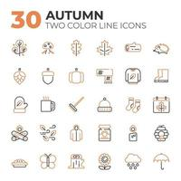 Set of Autumn related icons vector