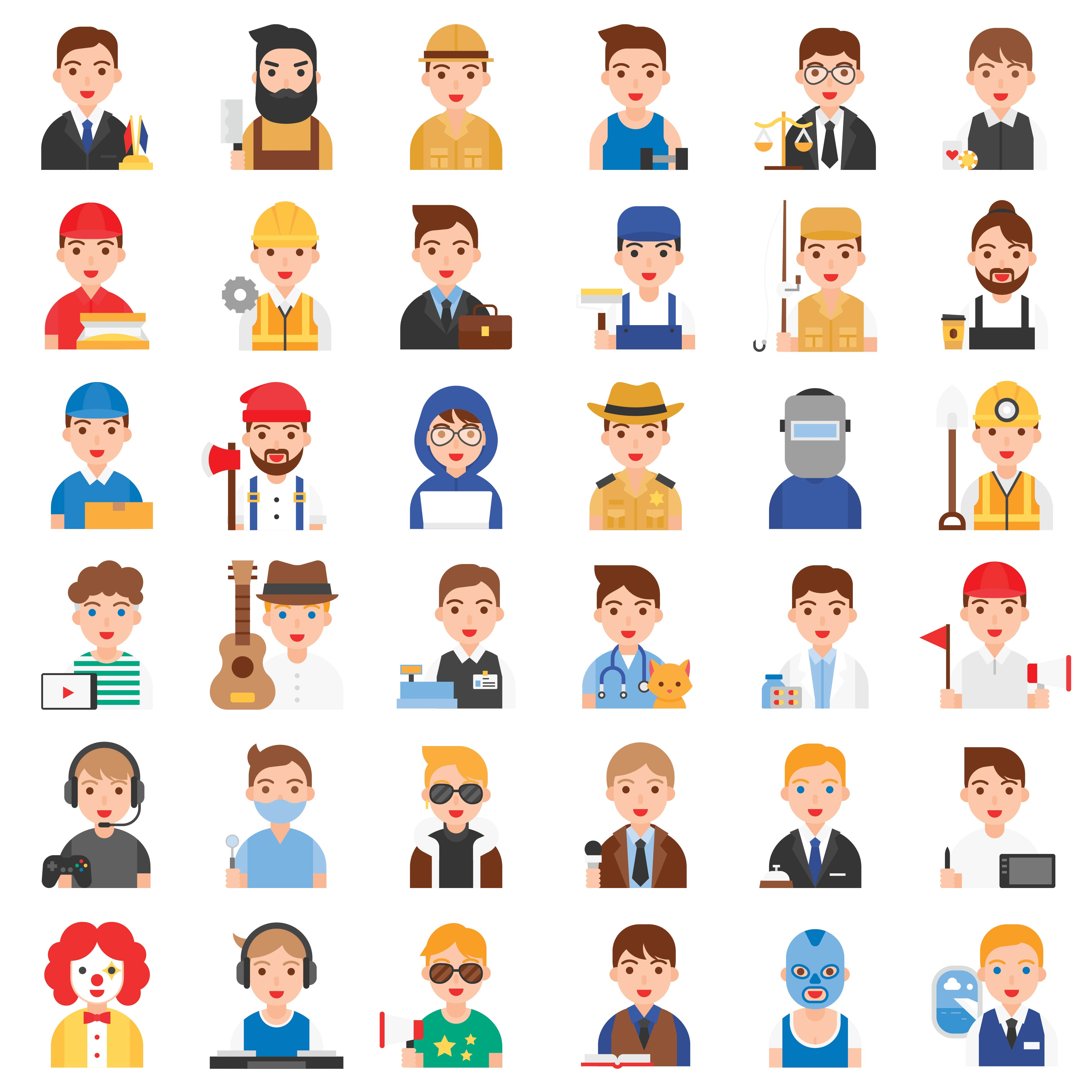 Profession and job related icon set