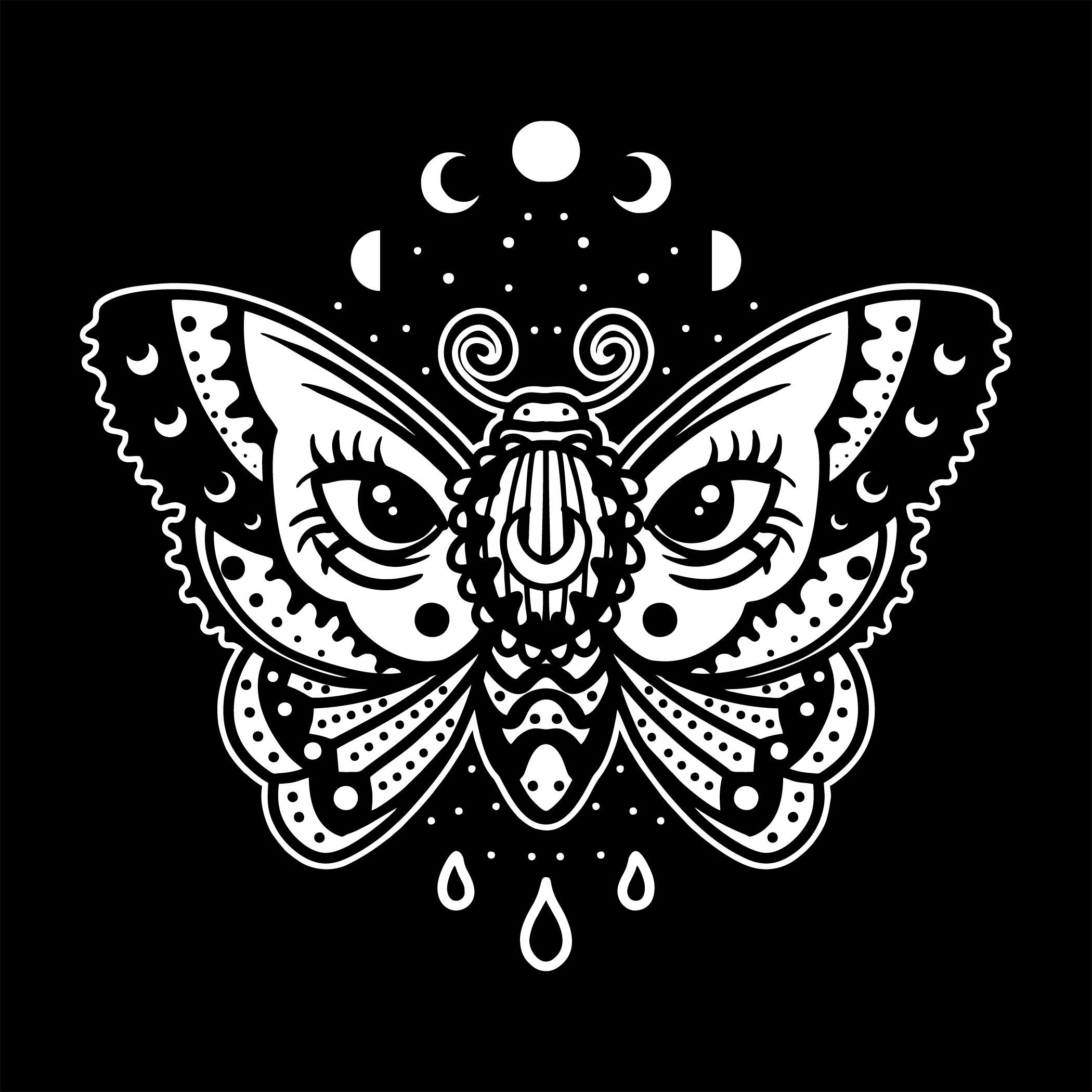 tatuaje de polilla nocturna
