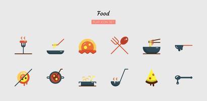 Colorful flat food icon symbol se vector