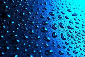 Water drops abstract photo