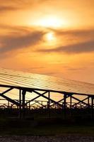 Solar Panel with Sun photo