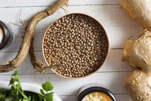 semillas de cilantro foto