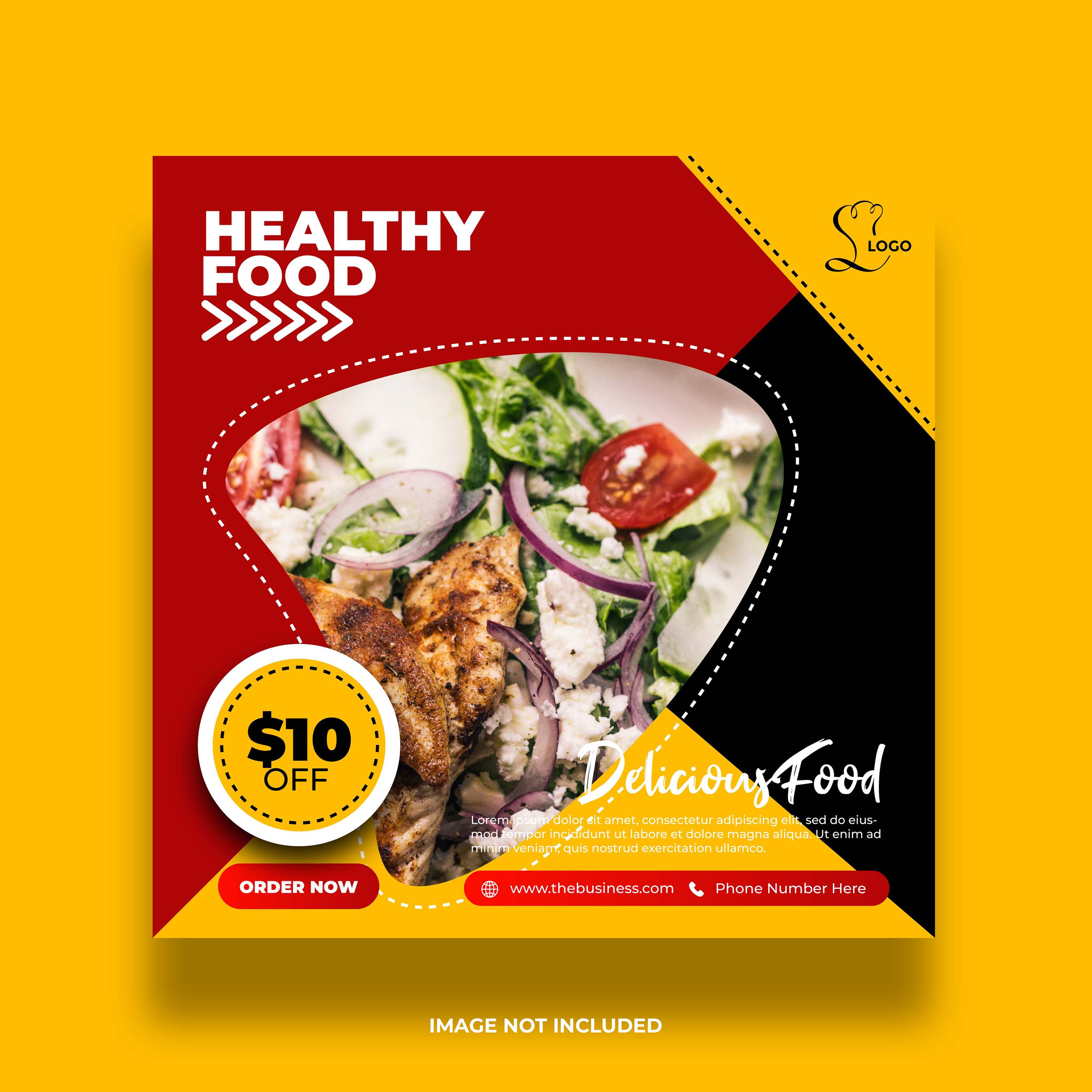 Red Yellow And Black Restaurant Banner For Social Media Post Download Free Vectors Clipart Graphics Vector Art