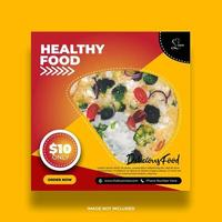 Creative Minimal Yellow And Red Food Banner For Social Media vector