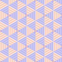 Geometric Pastel Striped Triangle Seamless Pattern vector