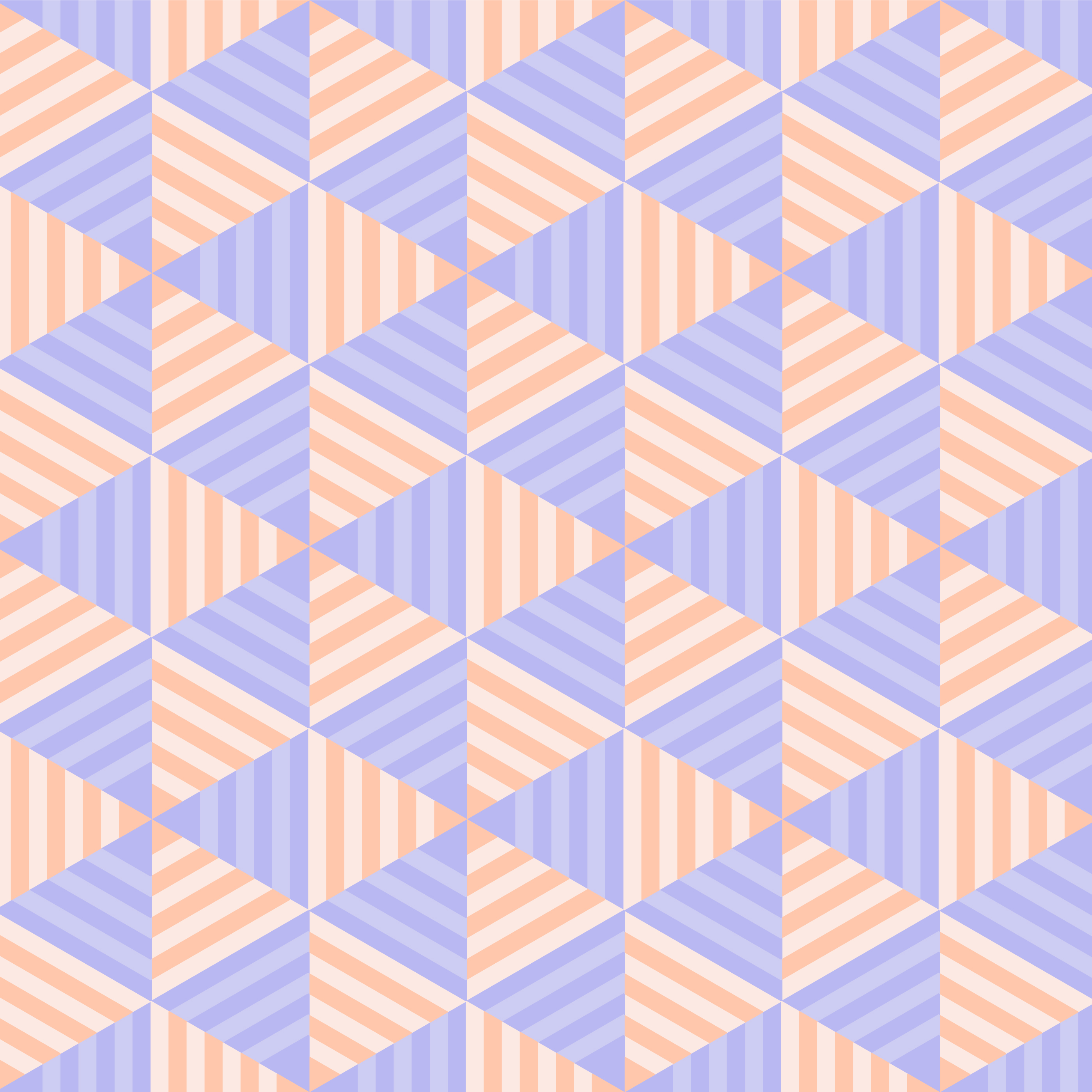 Geometric Pastel Striped Triangle Seamless Pattern vector