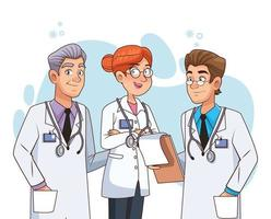 Characters of professional doctors staff  vector