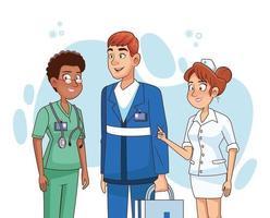 personal médico profesional vector