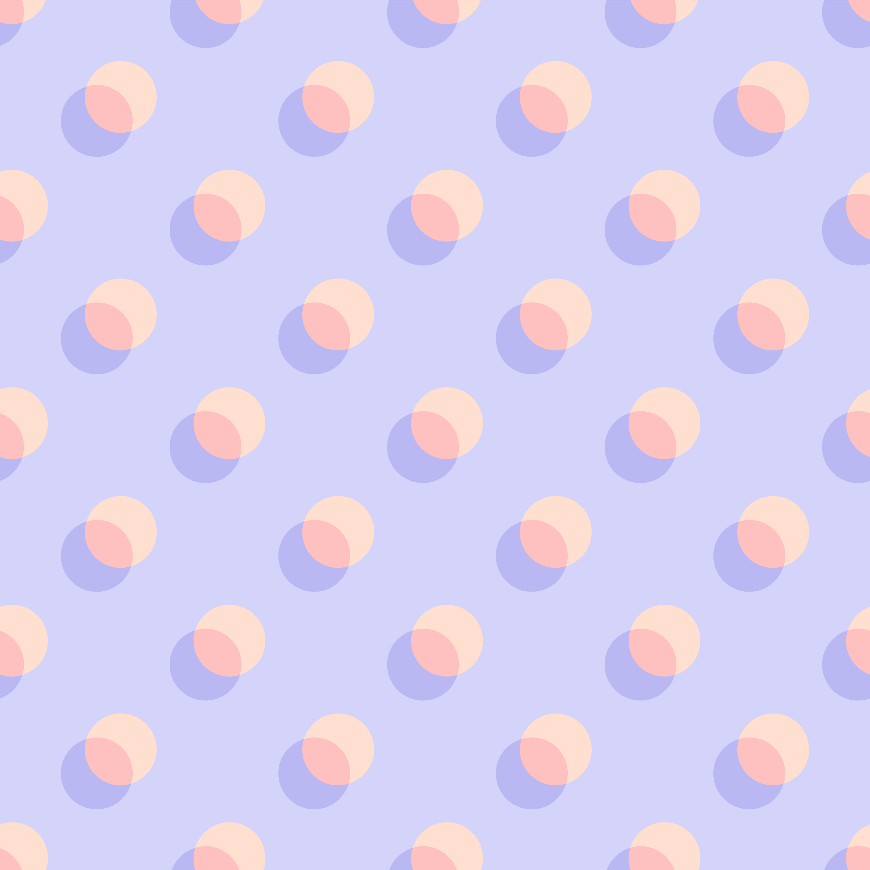 Pastel Overlapping Polka Dots Seamless Pattern vector