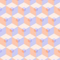 Seamless 3D Pastel Cube Pattern vector