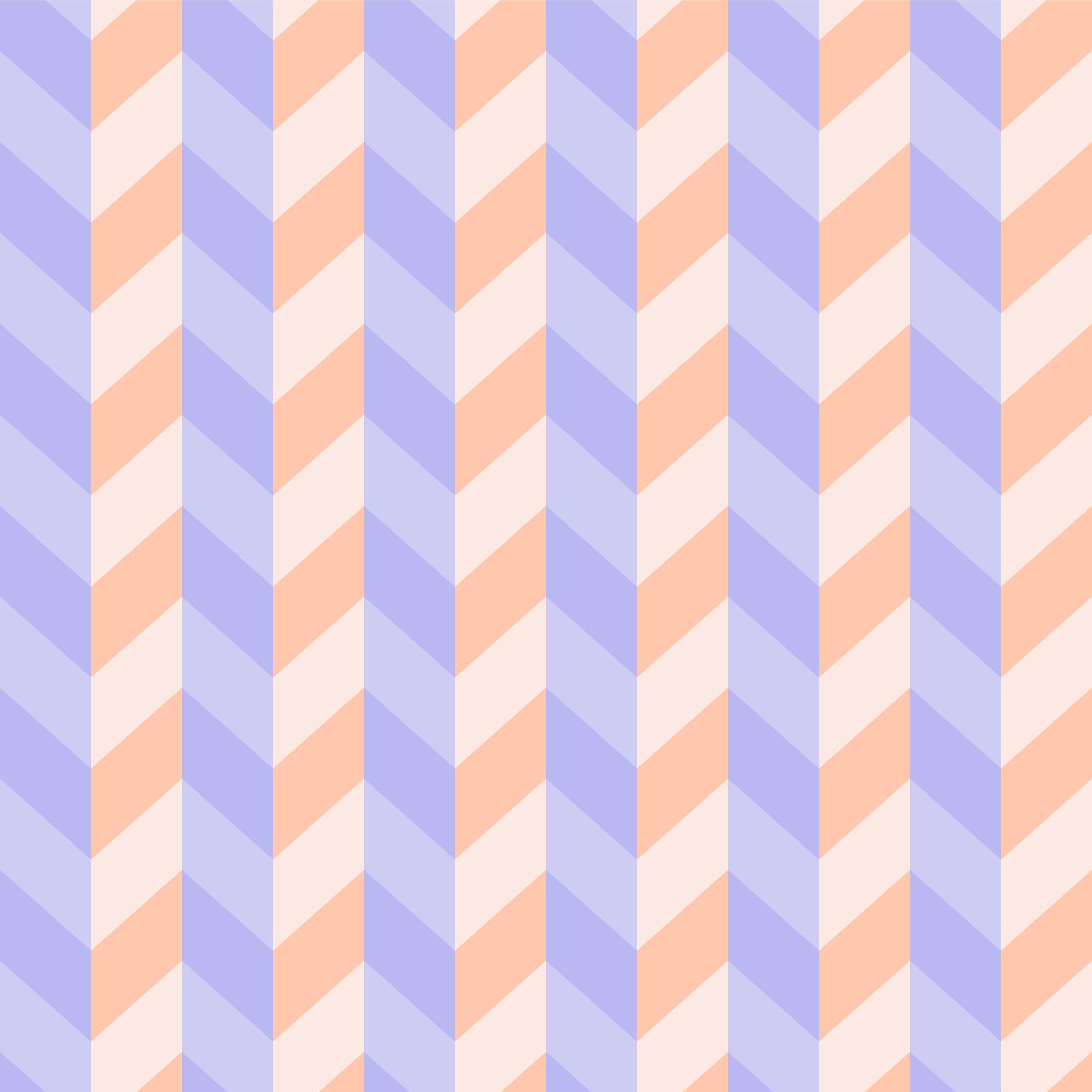Seamless Pastel 3D Zigzag Pattern