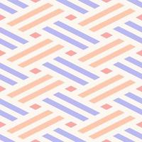 Seamless Pastel Woven Lines Pattern vector