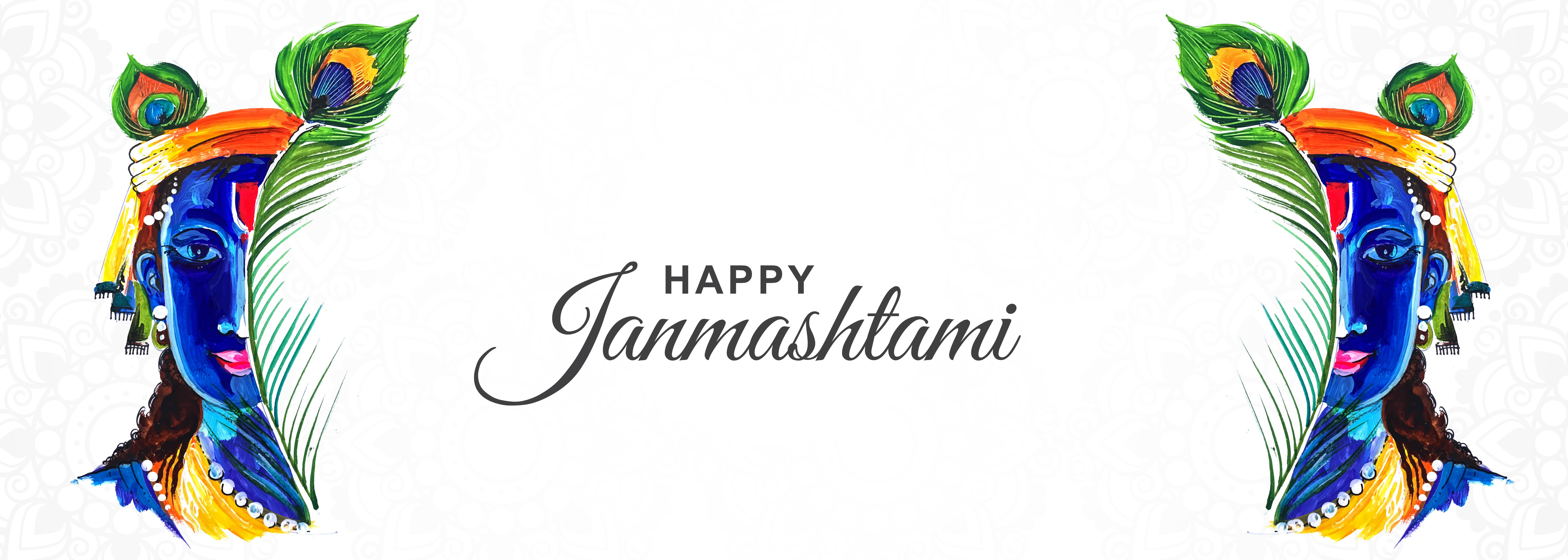 feliz krishna janmashtami media cara festival banner