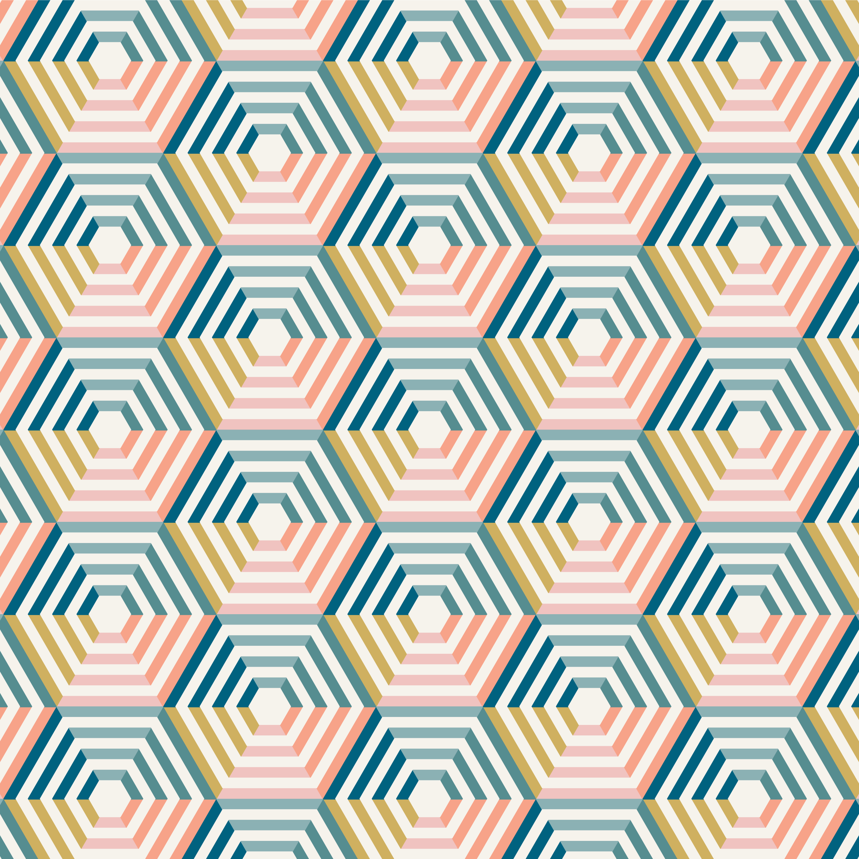 Abstract Colorful Striped Hexagon Pattern vector