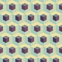 Abstract Cubes Geometric Pattern vector