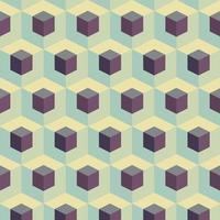 patrón geométrico de cubos abstractos vector