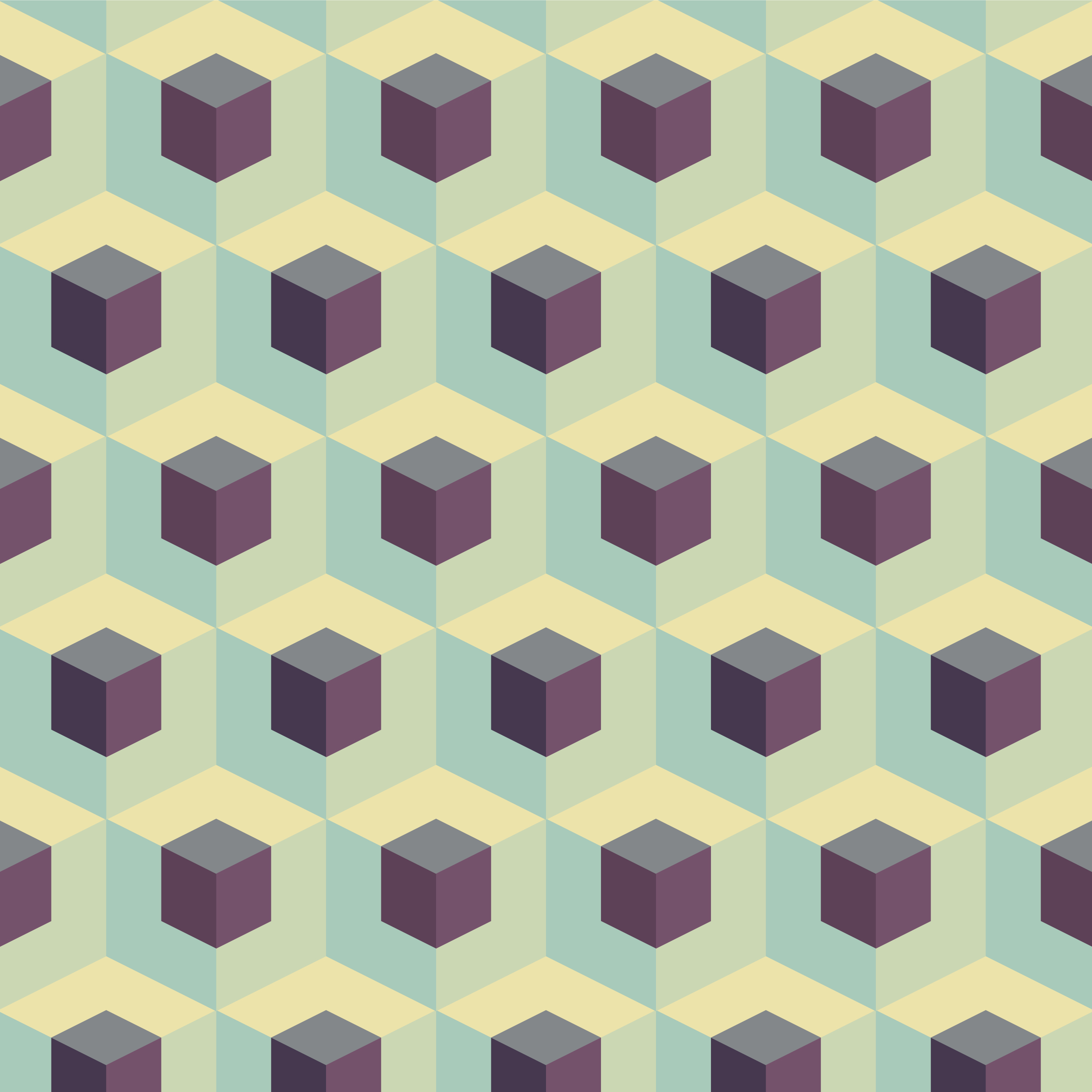 Abstract Cubes Geometric Pattern