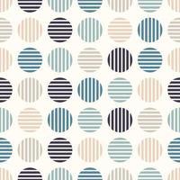círculos geométricos abstractos de patrones sin fisuras vector