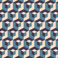 Abstract Geometric Cubes Seamless Pattern vector