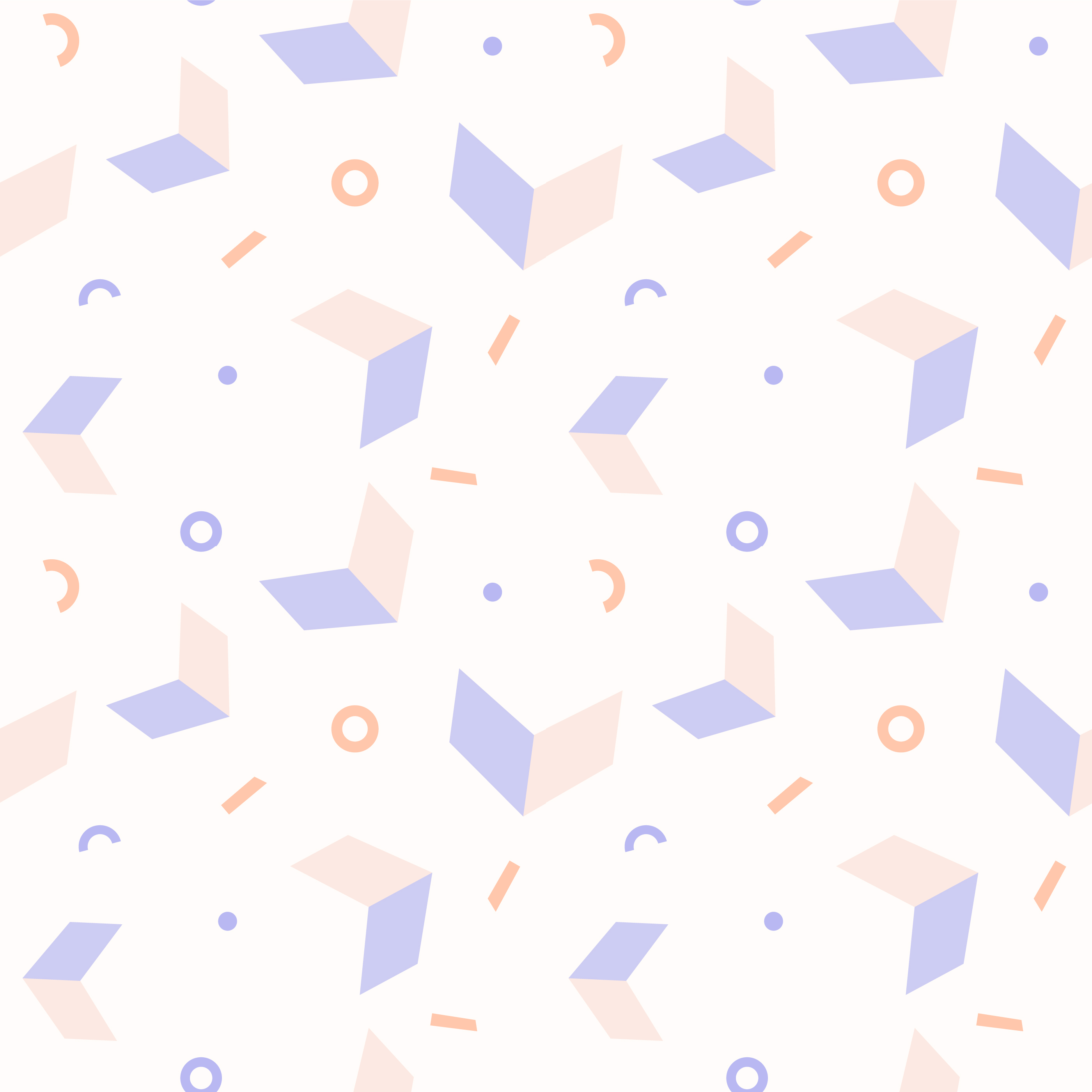 Abstract Pastel Geometric Shapes Seamless Pattern vector