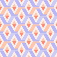Geometric 3D Pastel Argyle Seamless Pattern vector