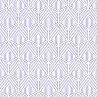 Abstract Striped Cubes Geometric Seamless Pattern vector