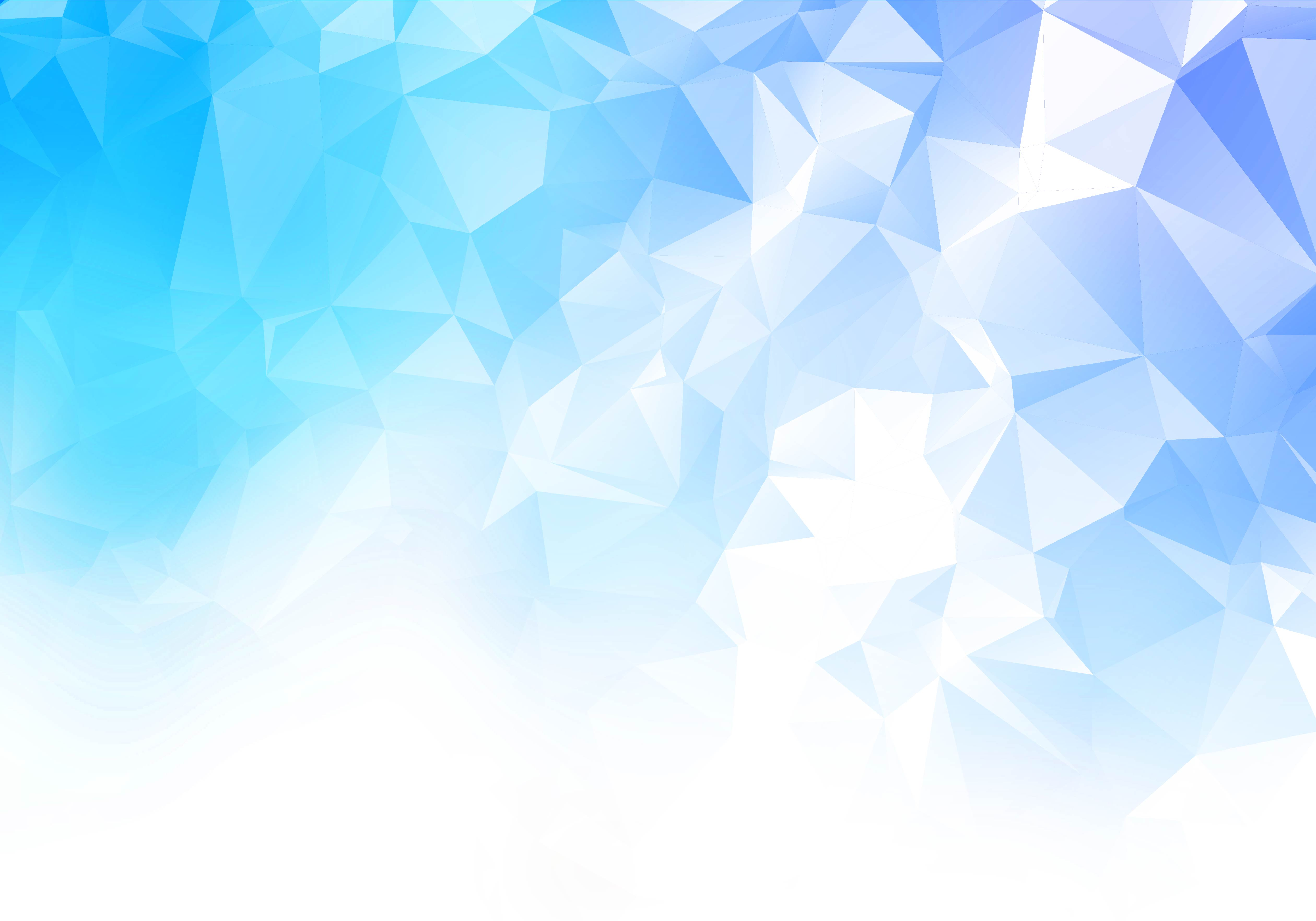 Blue, White Low Poly Triangle Shapes Background vector