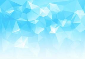 Blue White Low Poly Triangle Shapes Background vector