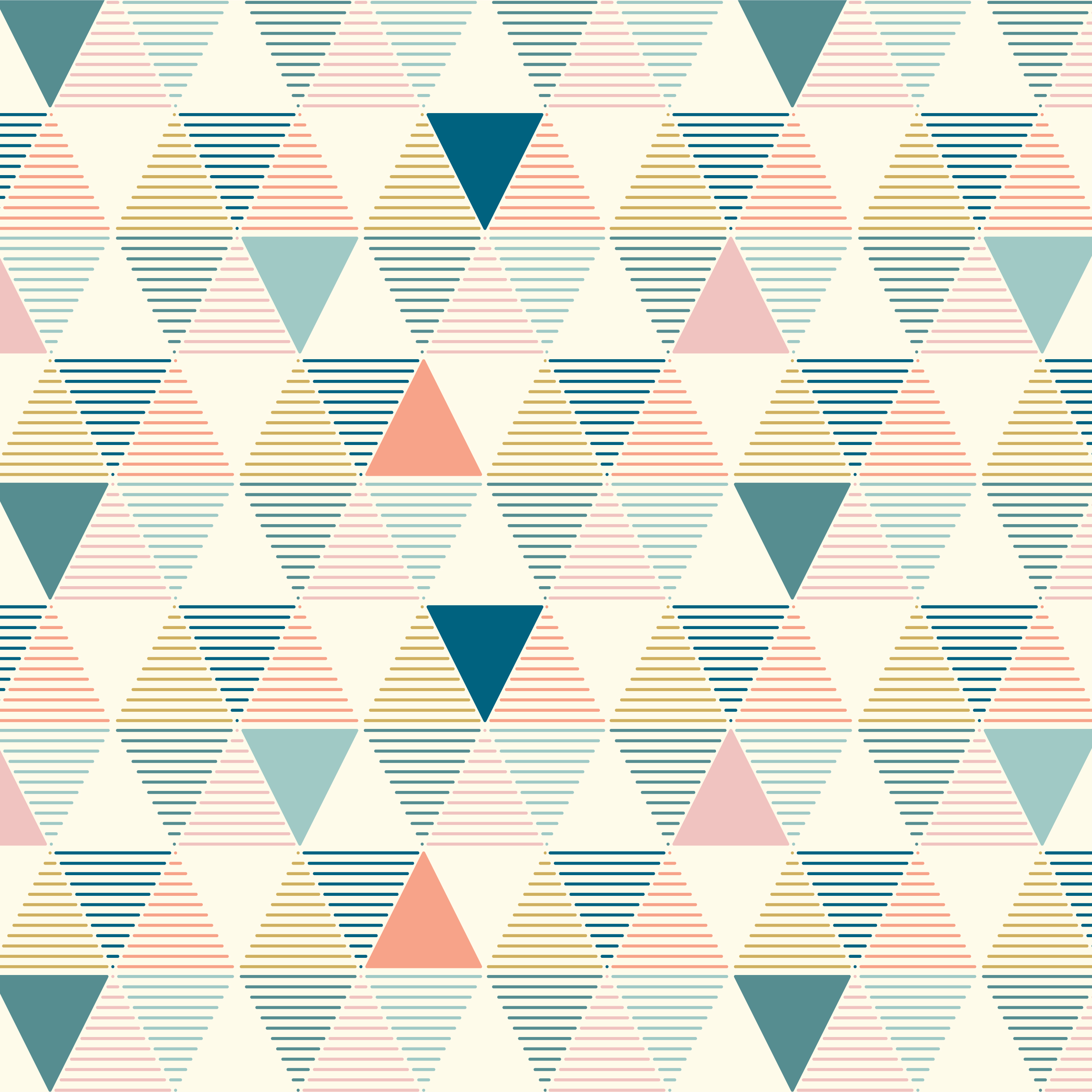 Geometric Colorful Line Triangles Seamless Pattern vector