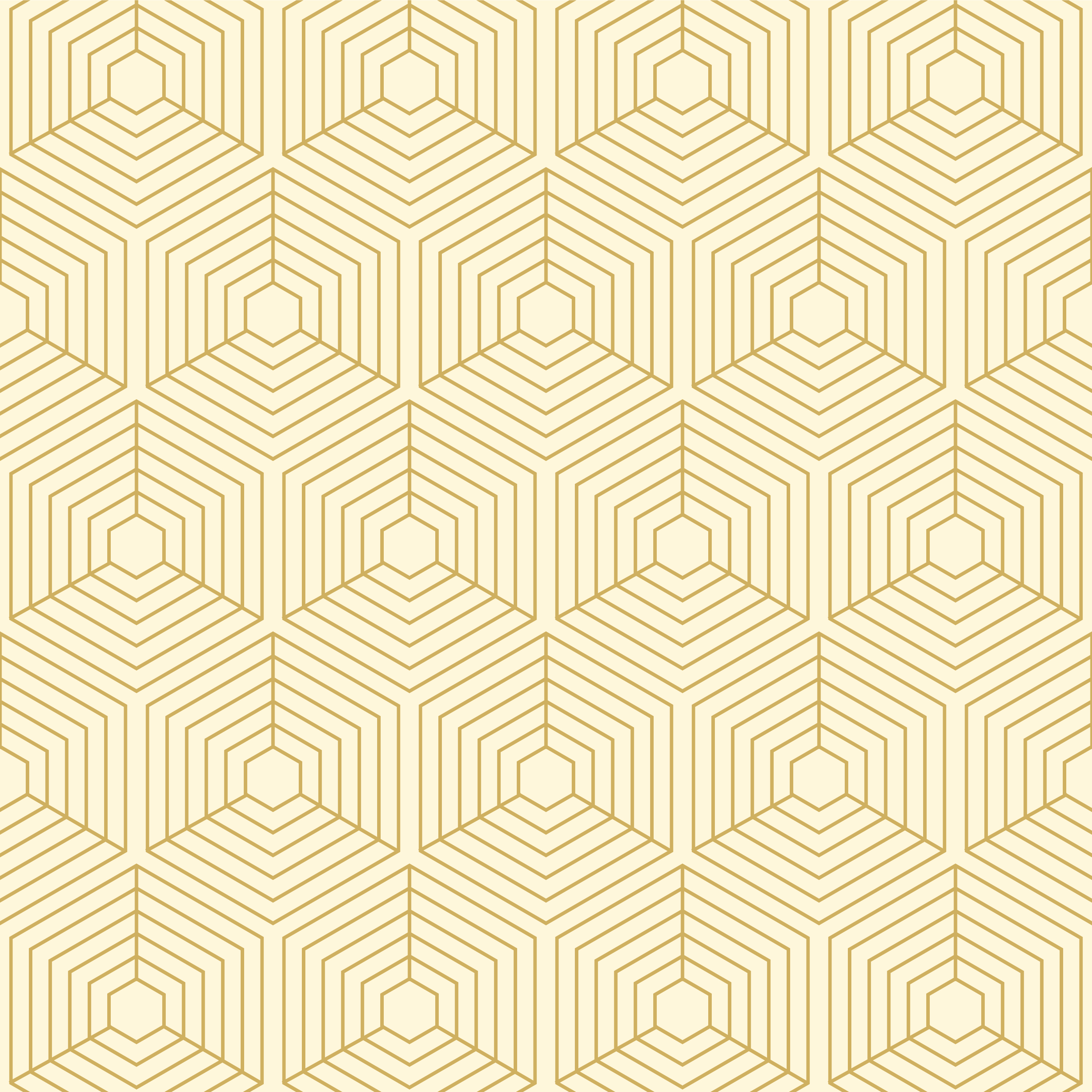 Geometric Gold Line Cubes Seamless Pattern vector