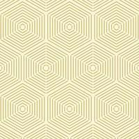 Geometric Gold Line Hexagon Seamless Pattern vector