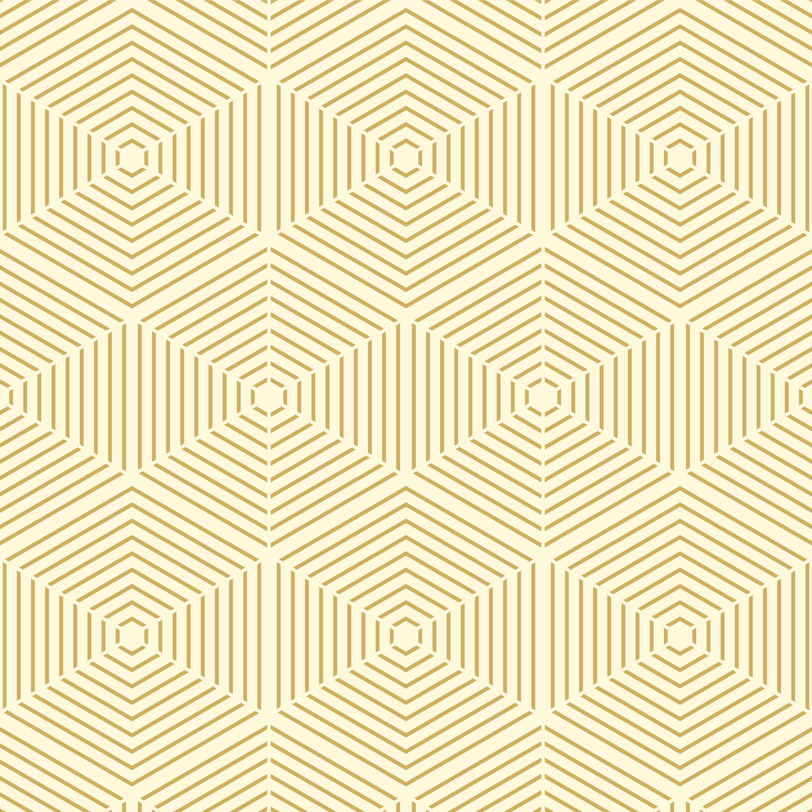 Geometric Gold Line Hexagon Seamless Pattern vector
