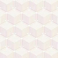 línea geométrica cubos de patrones sin fisuras vector